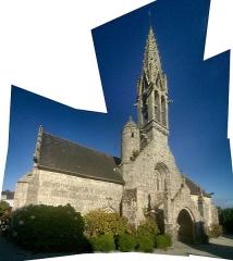 Eglise Notre-Dame d'Izel Vor -  Église N.D. d'Izel-Vor de La Forêt-Fouesnant (29).  F. Millour