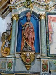 Chapelle de Saint-Cado ou Saint-Cadou - Français:   Gouesnach: chapelle Saint-Cadou, statue de saint Cadou