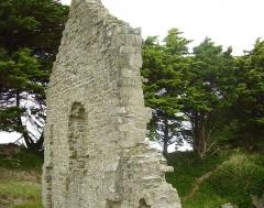 Ruines de la chapelle Sainte-Anne -  Île de Batz, near Roscoff, Bretagne; Frankreich;