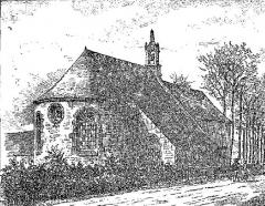 Chapelle Saint-Antoine - Français:   La chapelle Saint-Antoine à Plouezoc\'h  vers 1906 (dessin de Louis Le Guennec)