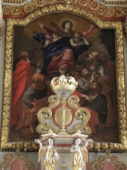 Eglise Saint-Etienne - Français:   Intérieur de l\'église Saint-Étienne de Plouezoc\'h (29). Retable du maître-autel. Tableau de l\'Assomption.