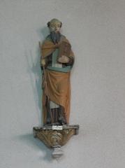 Eglise Saint-Etienne - Français:   Intérieur de l\'église Saint-Étienne de Plouezoc\'h (29). Statue de Saint-Herbot.