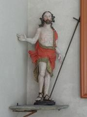 Eglise Saint-Etienne - Français:   Intérieur de l\'église Saint-Étienne de Plouezoc\'h (29). Statue du Christ ressuscité.