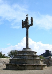 Eglise Saint-Gorgon -  Calvaire de Plovan (16ème siècle), Finistère.