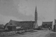 Eglise Saint-Demet - Français:   L\'église paroissiale de Plozévet en 1899 (photographie de Louis Rousselet)
