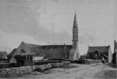 Eglise Saint-Demet - Français:   L\'église de Plozévet en 1899
