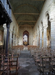 Eglise Notre-Dame de Roscudon - Français:   Nef de la collégiale Notre-Dame-de-Roscudon à Pont-Croix (29).