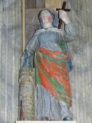 Chapelle Notre-Dame de Kergoat - Français:   Chapelle Notre-Dame de Kergoat en Quéménéven (29). Statue de Sainte-Barbe.