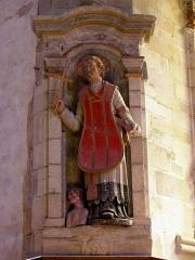 Chapelle Notre-Dame de Kergoat - Français:   Chapelle Notre-Dame de Kergoat en Quéménéven (29). Statue de Saint-Mathurin.