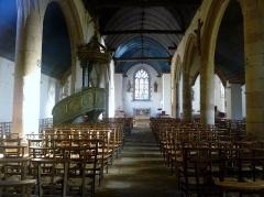 Eglise de la Trinité de Kerfeunteun - Français:   Vue intérieure d\'ensemble de l\'église de la Trinité à Quimper-Kerfeunteun; la nef date de 1575
