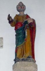 Eglise de la Trinité de Kerfeunteun - Français:   Statue de saint Pierre dans l\'église de la Trinité à Quimper-Kerfeunteun