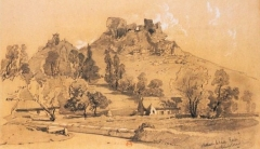 Restes du château - French lithographer and painter