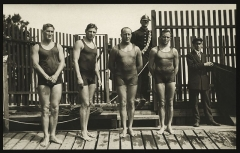 Manoir de la Haye - English: Australasian swimming team, winners of the freestyle relay, Olympic Games, Stockholm, 1912.