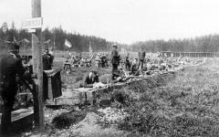 Manoir de la Haye - Compétition du tir au fusil, JO 1908 (Kaknas).