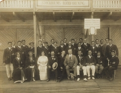 Manoir de la Haye - English: The Australasian Olympic Team at Stockholm Roddforening, 1912, from original silver gelatin print, ca. 1925, by unknown photographer, from State Library Of New South Wales, SPG / 102