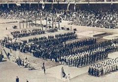 Manoir de la Haye - JO de 1912 à Stockholm, les délégations devant la loge royale.
