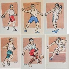 Manoir de la Haye - Svenska: Kollage OS 1912 Stockholm illustrationer av KEO Karl Emil Ohlsson