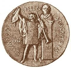 Manoir de la Haye - La médaille olympique à Stockholm aux JO 1912.