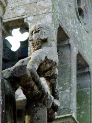 Eglise Saint-Pierre - Deutsch: Saint-Hernin (Bretagne, Finistère) Calvaire: Der gute Schächer.