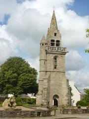 Ancienne église - Français:   Taulé: le vieux clocher