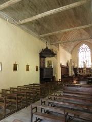 Ancienne collégiale, actuellement église Sainte-Marie-Madeleine - Intérieur de la collégiale Sainte-Marie-Madeleine de Champeaux (35). Costale nord de la nef.