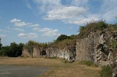 Restes du Vieux-Château - Français:   Hédé, Ille-et-Vilaine, Bretagne, France  Ruines du château, vues de l\'intérieur.