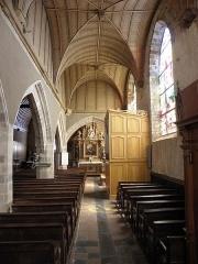Eglise Saint-Patern - Collatéral sud de l'église Saint-Patern à Louvigné-de-Bais (35).