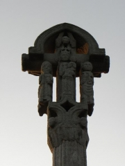 Croix de cimetière - Français:   Face ouest de la croix du cimetière de Médréac (35).