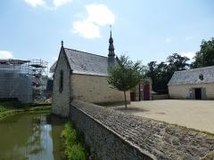 Manoir de Boisorcant -  la chapelle et les douves du chateau