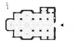 Basilique Saint-Sauveur - Français:   Plan de la basilique Saint-Sauveur de Rennes.