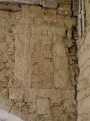 Ancien couvent de Bonne-Nouvelle - Fenêtre murée dans le mur sud de la chapelle de Bonne-Nouvelle du couvent des Jacobins de Rennes (Ille-et-Vilaine, Bretagne).