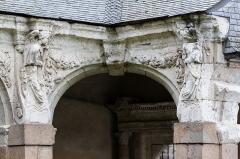 Hospice Saint-Mélaine - Français:   Angle nord-ouest du cloître de l\'ancienne abbaye saint Melaine de Rennes.