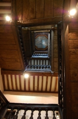 Ancien hôtel du Molant - English: Stairwell of the hôtel de Molant in Rennes