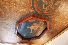 Ancien hôtel du Molant - English: Ceiling of the hôtel de Molant in Rennes showing Urania and the comets