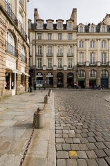 Immeuble - English:  Western part of the facade of the Hôtel de Mucé in Rennes (France).