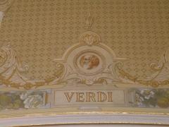 Théâtre et immeubles dits Galeries du Théâtre - Portrait de Giuseppe Verdi dans le foyer de l'Opéra de Rennes.