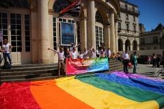 Théâtre et immeubles dits Galeries du Théâtre - English: 1000 vues et + Pride Marche des fiertés - Rennes 2014