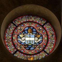 Eglise Saint-Briac - Français:   Oculus transept nord, blason du pape Léon XIII