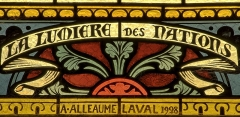 Eglise Saint-Briac - Français:   Signature A. Alleaume, Laval, 1928
