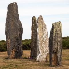 Ensemble mégalithique dénommé alignements de Cojoux - Français:   Alignement de Menhir de Saint-Just