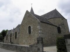 Ancienne église Saint-Lunaire - Français:   Chevet de la vieille église de Saint-Lunaire (35).