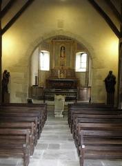 Ancienne église Saint-Lunaire - Français:   Vue vers l\'orient de la nef de la vieille église de Sait-Lunaire (35).