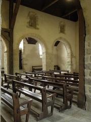 Ancienne église Saint-Lunaire - Français:   Costale sud de la nef romane de la vieille église de Saint-Lunaire (35).