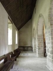 Ancienne église Saint-Lunaire - Français:   Collatéral nord de la nef de l\'ancienne église de Saint-Lunaire (35).