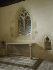 Ancienne église Saint-Lunaire - Français:   Mur oriental et autel de la chapelle des Pontbriand en l\'ancienne église de Saint-Lunaire (35).