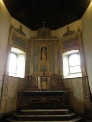 Ancienne église Saint-Lunaire - Français:   Maître-autel de la vieille église de Saint-Lunaire (35).