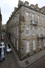 Maison ou hôtel de la Sauldre - Français:   Hôtel de la Sauldre à Saint-Malo: angle entre les rues d\'Orléans et Feydeau.
