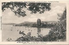 Tour Solidor et ouvrages avancés - Français:   Carte postale des bords de la Rance (Ille-et-Vilaine, France) vers 1920