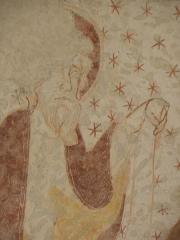 Ancienne abbaye Saint-Méen - Peintures murales de la chapelle Saint-Vincent de l'Abbatiale Saint-Méen de Saint-Méen-le-Grand (35). Voûtes de la deuxième travée (d'ouest en est). Voûtain ouest.