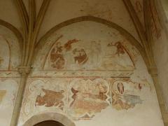Ancienne abbaye Saint-Méen - Peintures murales de la chapelle Saint-Vincent de l'Abbatiale Saint-Méen de Saint-Méen-le-Grand (35). Costale nord. 3ème travée.